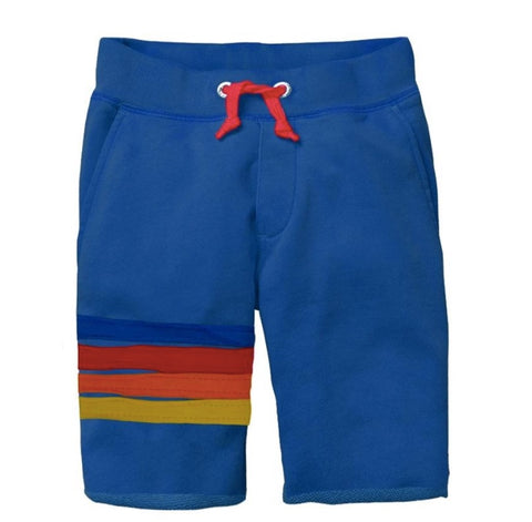 Mini Shatsu Blue Velour Stripe Shorts