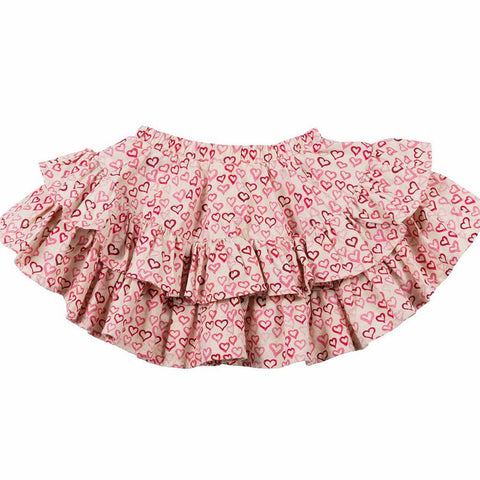 Paper Wings Frilled Pink Heart Skirt (4T)