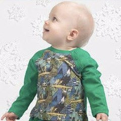 Paper Wings Green Mini Mountain Dragon Raglan Long Sleeve Shirt