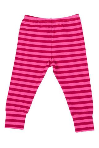 Paper Wings Pink & Red Stripe Leggings (24M)