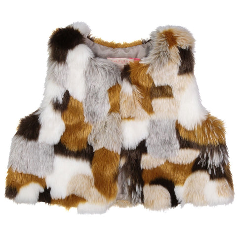 Pink Chicken Fiona Faux Fur Vest Medium (6-8yrs)