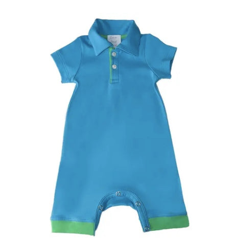Lemon Loves Lime Polo Perry Romper