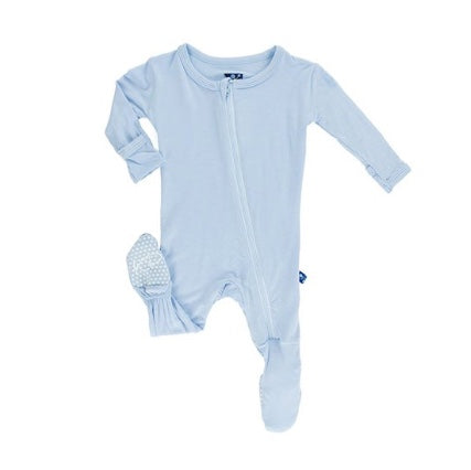 KicKee Pants Pond Zippered Footie (3-6M)