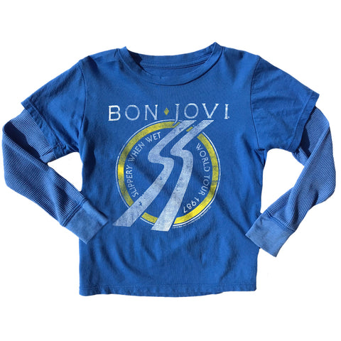 Rowdy Sprout Bon Jovi Double Sleeve Tee (6yrs)