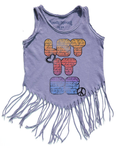 Rowdy Sprout Purple Haze Let it Be Hippy Shake Tank Top