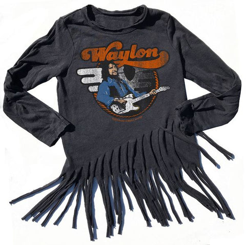 Rowdy Sprout Waylon Long Sleeve Fringe Tee (8yrs)