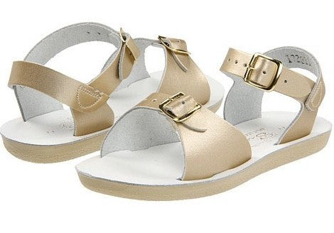 Salt Water Surfer Sandal- Gold