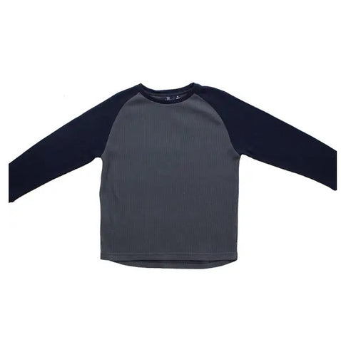 Bear Camp Navy & Slate Raglan Baseball Tee