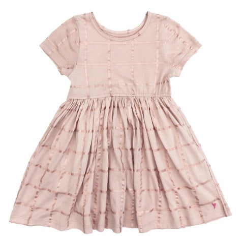 Pink Chicken Steph Dress Rose Gold Tattersall