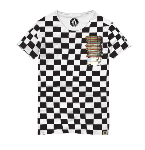 Mini Shatsu Surf Bus Checkered Tee