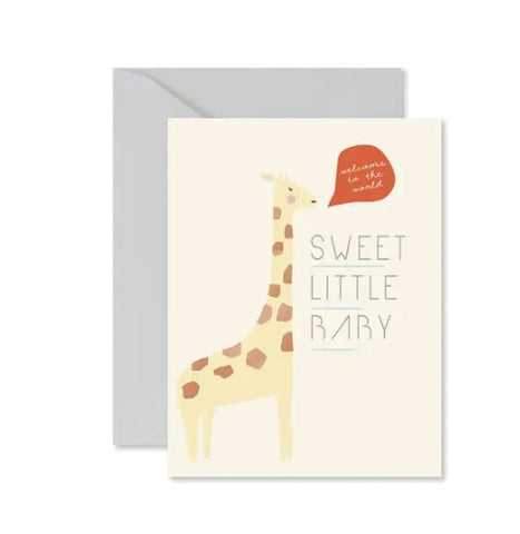 Ginger P Giraffe Sweet Little Baby Card