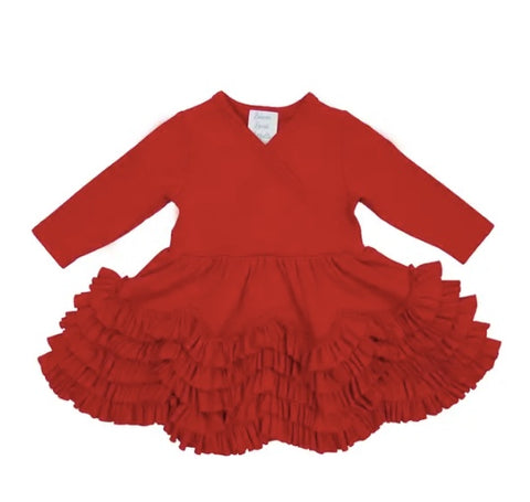 Lemon Loves Lime True Red Jada Dress (3-6M)