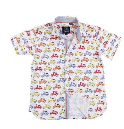 Tuktuk Designs Short Sleeve Scooters Button Down Shirt