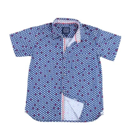 Tuktuk Designs Short Sleeve Sailboats Button Down Shirt