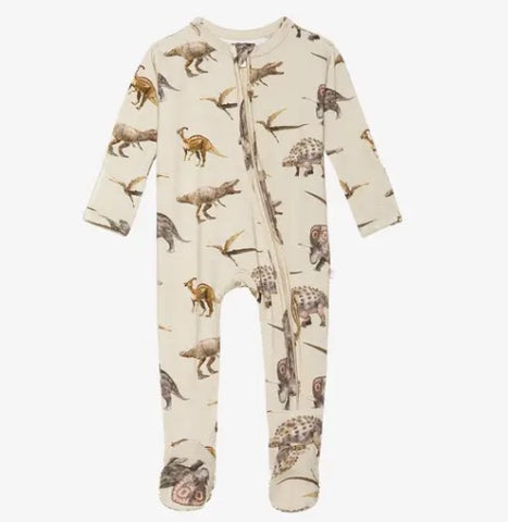 Posh Peanut Dino Zippered Footie