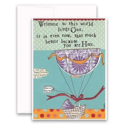 Carly Girl Welcome to the World Card