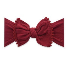 Baby Bling Winter Red Classic Trimmed Knot Headband