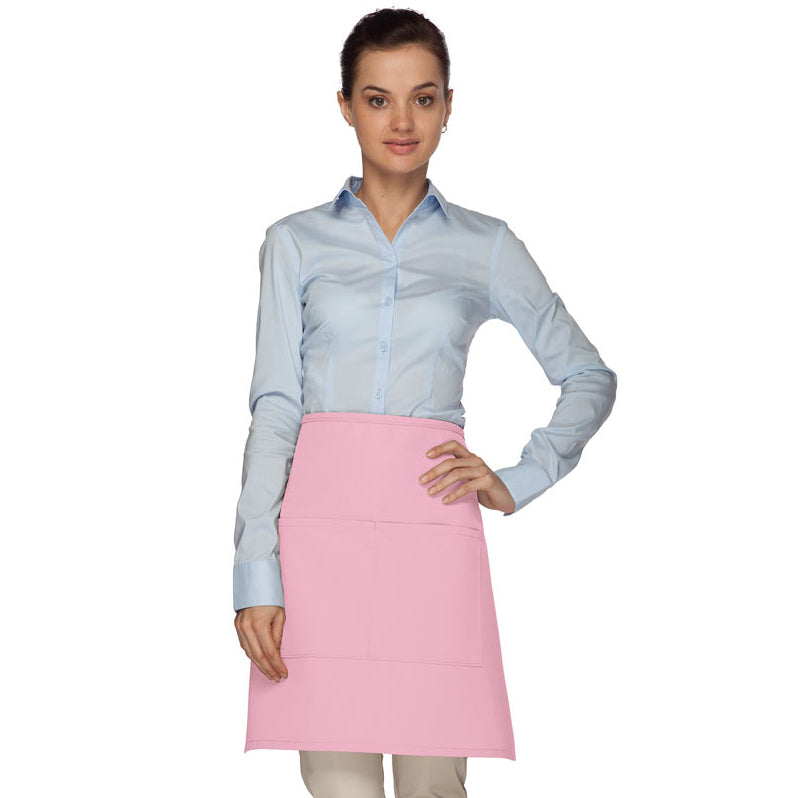 1/2 Bistro Apron w/ Center Divided Pocket