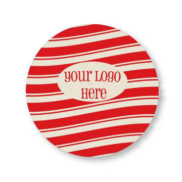 "Winter 4"" Full Color Round Custom Coaster - Front Only 100 Pack"