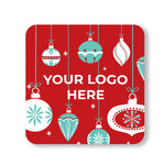 "Winter 4"" Full Color Square Custom Coaster - Front Only 100 Pack"