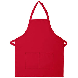 Bib Apron with Center Divided Pocket