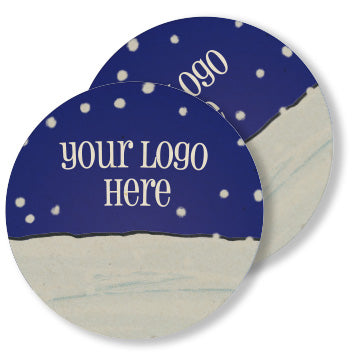 "Winter 4"" Full Color Round Custom Coaster - Front & Back 1000 Case"