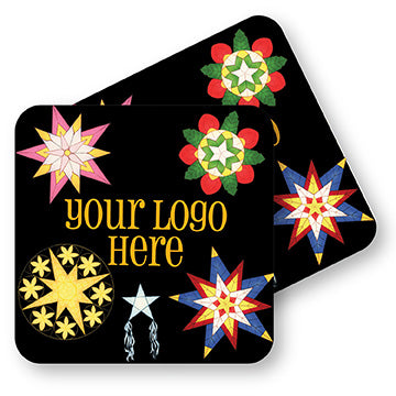 "Winter 4"" Full Color Square Custom Coaster - Front & Back 1000 Case"