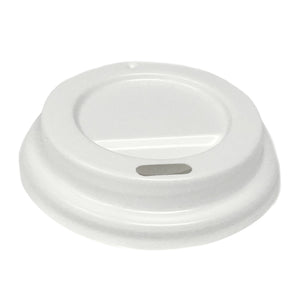 White Sipper Dome Lid for 4oz Paper Hot Cups