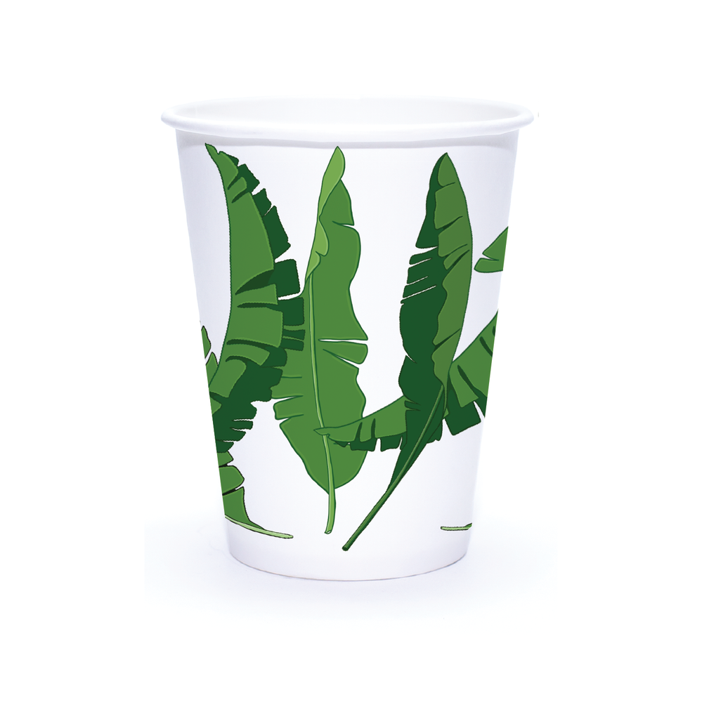 Summer 12oz Custom Printed Single Wall Paper Hot Cups