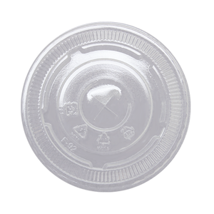 Flat Lids for 8 or 10oz Clear Plastic PET Cups