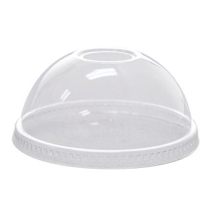 Dome Lids for 8 or 10oz Clear Plastic PET Cups