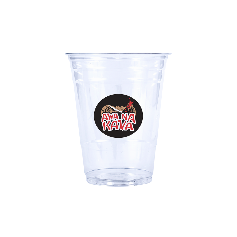 16oz Custom Printed Clear Plastic PET Cups