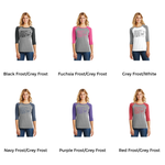 Ladies Perfect Tri 3/4-Sleeve Raglan