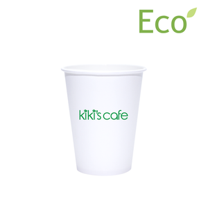 12oz Custom Printed Eco-Friendly White Paper Hot Cups