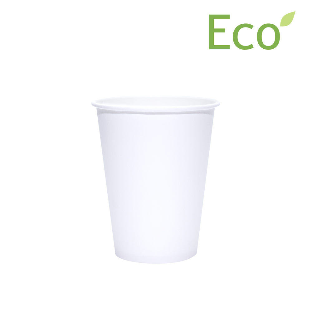 Blank 12oz Eco-Friendly White Paper Hot Cups