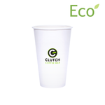16oz Custom Printed Eco-Friendly White Paper Hot Cups