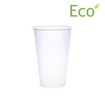 Blank 16oz Eco-Friendly White Paper Hot Cups