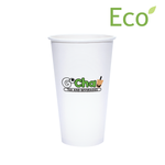 20oz Custom Printed Eco-Friendly White Paper Hot Cups