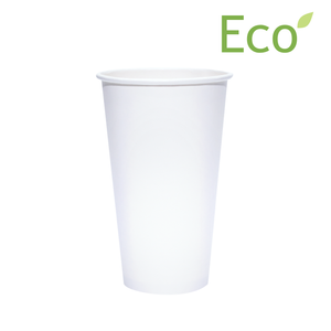20oz Eco-Friendly White Paper Hot Cups
