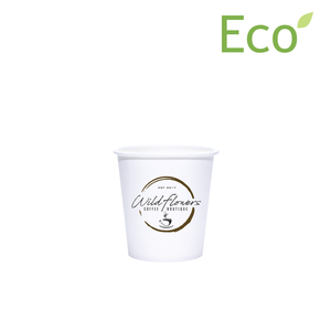 4oz Custom Printed Eco-Friendly White Paper Hot Cups