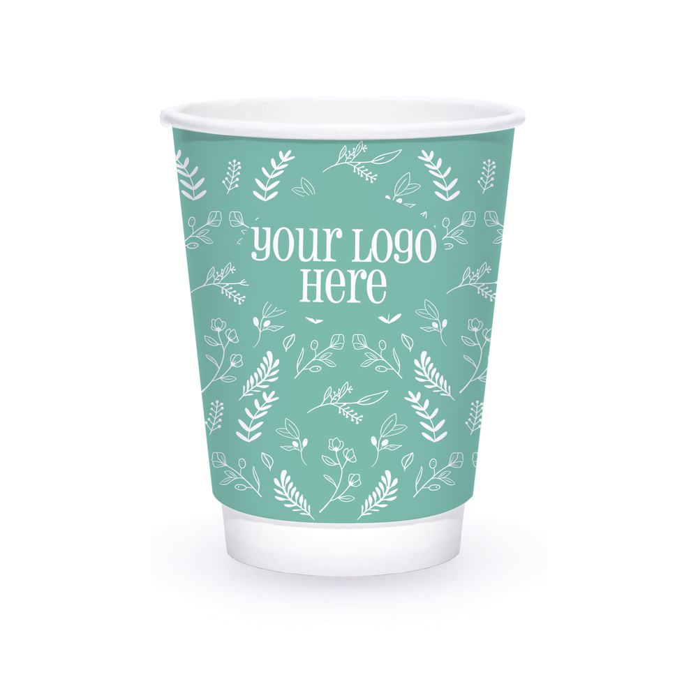 Spring 12oz Custom Printed Insulated Paper Hot Cups