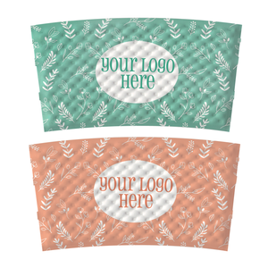 Spring Full Wrap Custom Printed Coffee Sleeves