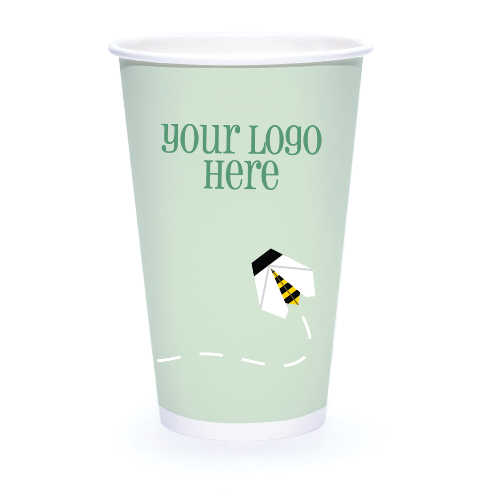 Spring 16oz Custom Printed Single Wall Paper Hot Cups
