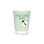 Spring 8oz Custom Printed Insulated Paper Hot Cups