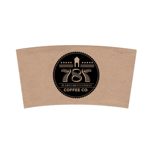 Custom Printed Kraft Corrugated Coffee Sleeves