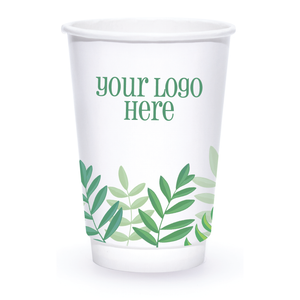 Spring 16oz Custom Printed Insulated Paper Hot Cups