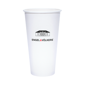 32oz Custom Printed White Paper Cold Cups