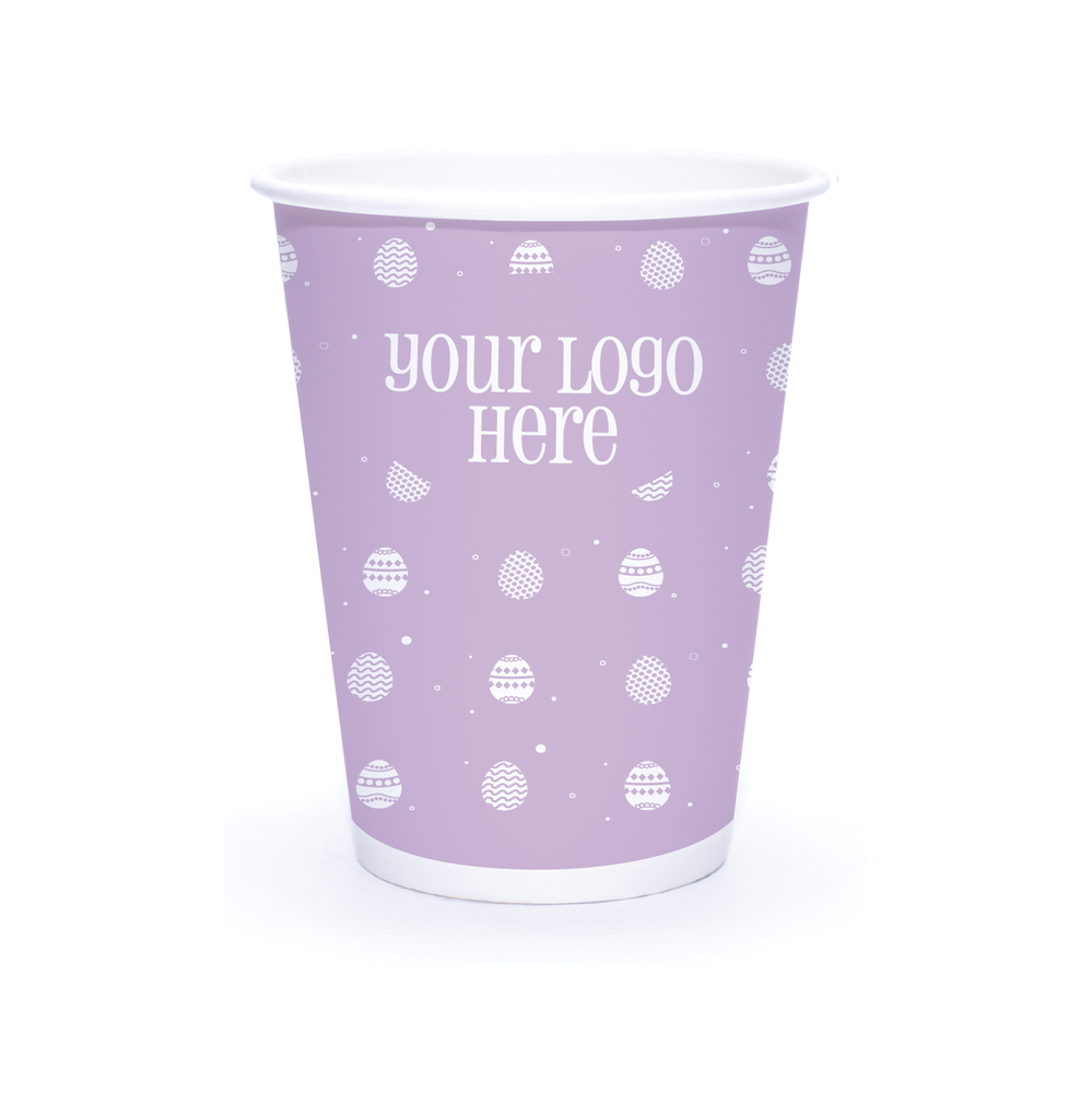 Spring 12oz Custom Printed Single Wall Paper Hot Cups