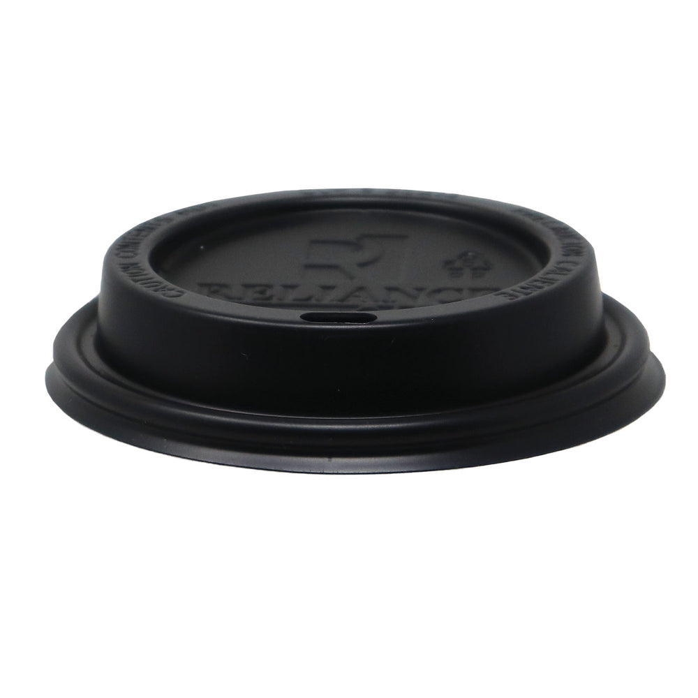 Reliance Black Sipper Dome Lids for 10~24oz Paper Hot Cups