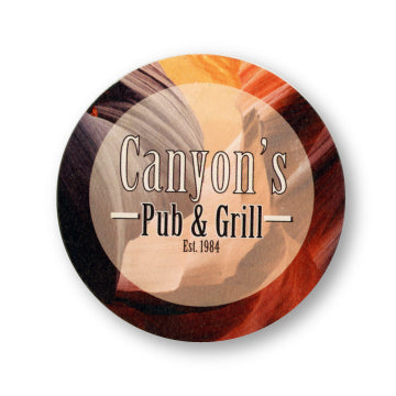 "4"" Full Color Round Custom Coaster - Front Only 100 Pack"